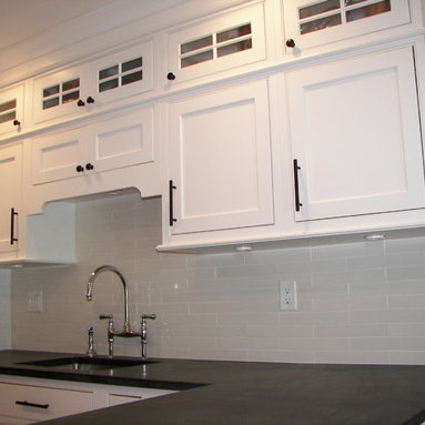 White Painted Cabinets with Inset Doors, White 2