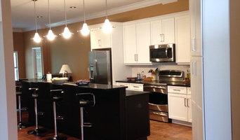 Kitchen remodel-modern white and black