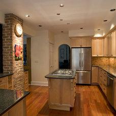 Contemporary Kitchen by Nancy Finneson, AKBD, CAPS / DeMane Design