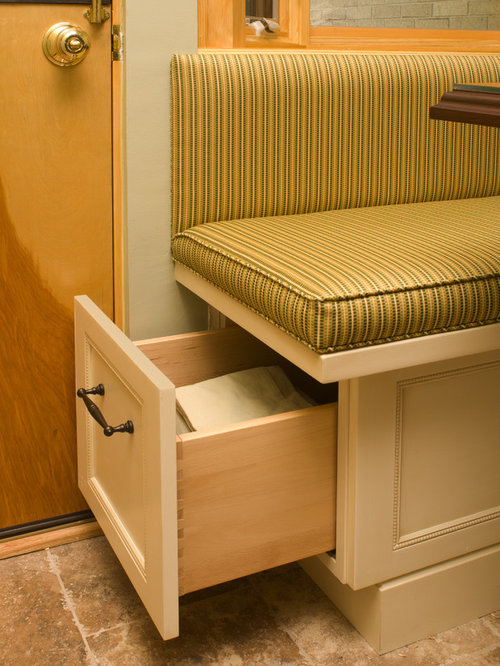 Banquette with storage drawers ideas, pictures, remodel and decor