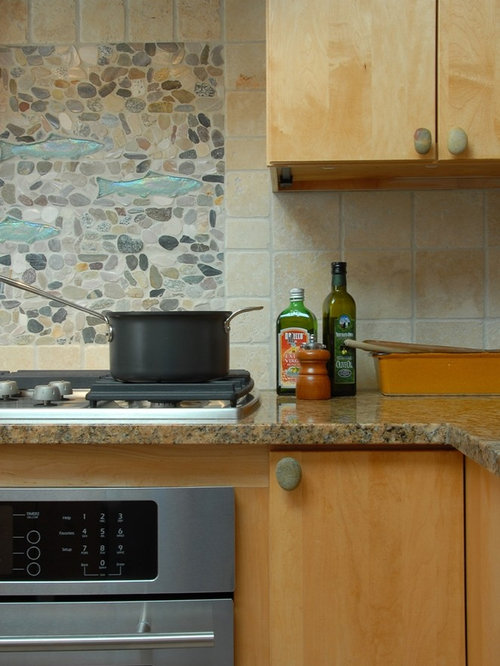 river stone backsplash ideas pictures remodel and decor