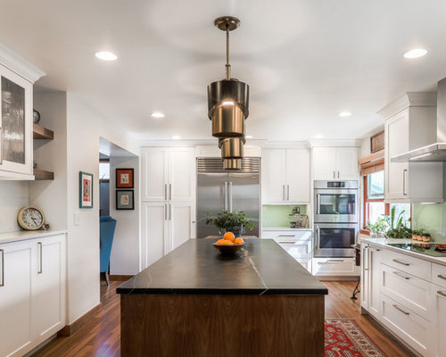 u shaped kitchen design. Transitional kitchen remodeling  Example of a transitional u shaped medium tone wood floor and 10 Best U Shaped Kitchen Ideas Decoration Pictures Houzz
