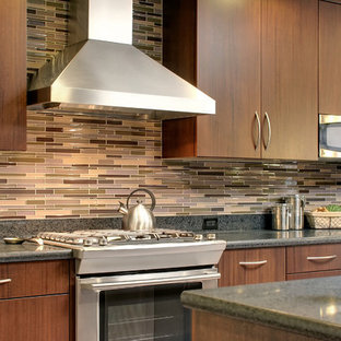 Kitchen - contemporary kitchen idea in San Francisco with stainless steel appliances, flat-panel