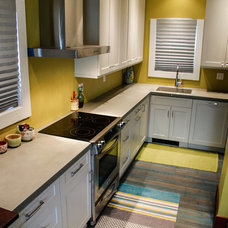Eclectic Kitchen by Sound Concrete Countertops