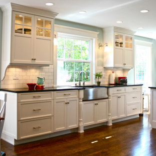 Genial Example Of A Classic Kitchen Design In Salt Lake City With Subway Tile  Backsplash And A