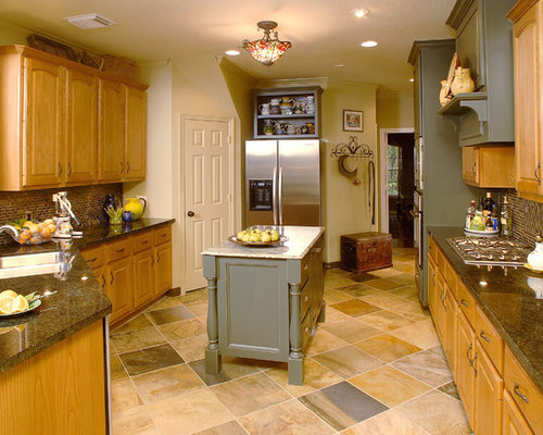 Golden Oak Cabinets Home Design Ideas, Pictures, Remodel