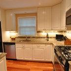 Kitchen Remodel, white cabinets, tile backsplash ...