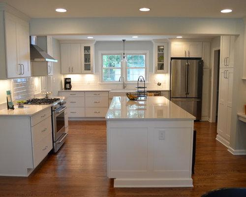 Kitchen Remodel With White Copenhagen Cabinets Lagoon