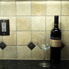 Traditional Kitchen Kitchen Remodel with Wine Refrigerator