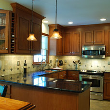 Traditional Kitchen Kitchen Remodel with Wine Refrigerator