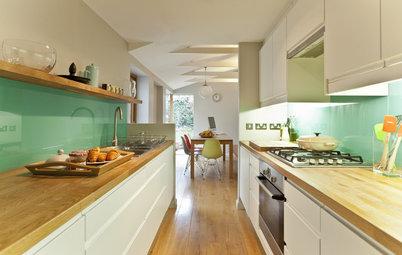 ¿Tu cocina es larga y estrecha? 10 trucos para una buena distribución