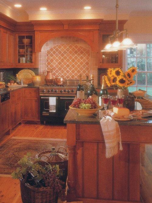 3x3 Eat In Kitchen Design Ideas Renovations Photos With Terra Cotta Splashback