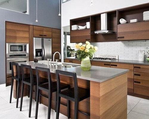 Rustic kitchen with zinc countertops design ideas for Kitchen zinc design