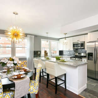 75 Beautiful White Eat In Kitchen Pictures Ideas April 2021 Houzz