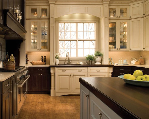 Mixed wood cabinets home design ideas pictures remodel and decor Kitchen design mixed cabinets