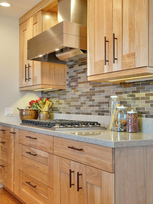 Birch cabinet houzz for Birch kitchen cabinets review