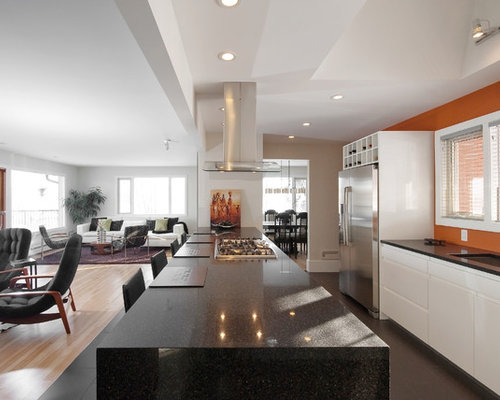 Burnt orange walls home design ideas pictures remodel and decor Modern kitchen design ideas houzz