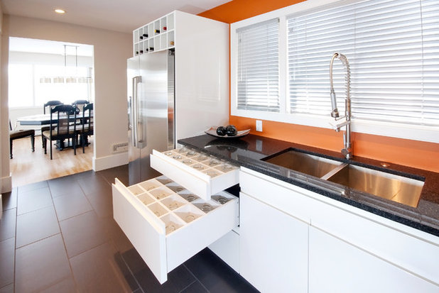 contemporary kitchen images kitchen of the week bright mid century remodel 2496