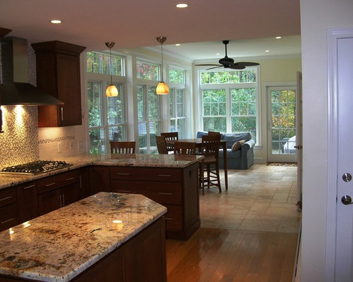 kitchen opened to sunroom ideas pictures remodel and decor. Black Bedroom Furniture Sets. Home Design Ideas