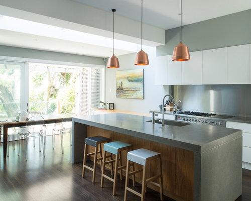 Concrete Kitchen Houzz - Concrete cabinets