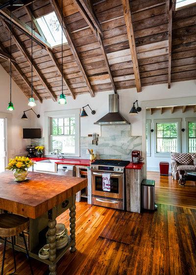 Kitchen of the Week: Rustic Space Opens to Herb and ...