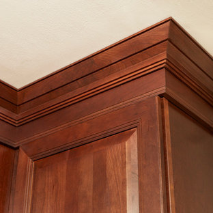 Kitchen Renovation Featuring Carlton Cherry Russet Cabinets & Crown Molding