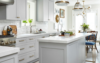 Kitchen of the Week: Gray Cabinets, Mixed Metals and Italian Love