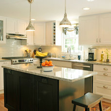 Eclectic Kitchen by Dwellings Design Build
