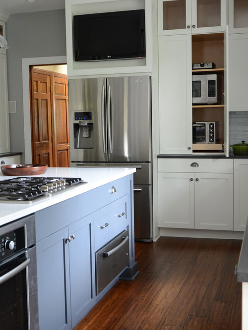 Tv Above Refrigerator Home Design Ideas Pictures Remodel