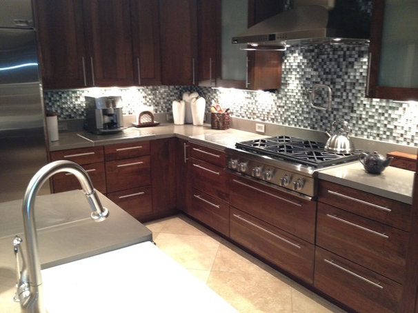 Contemporary Kitchen by T Brothers Tile LLC