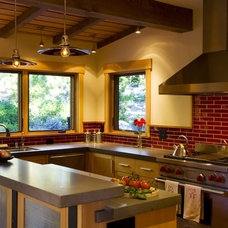 Rustic Kitchen by Ryan Group Architects
