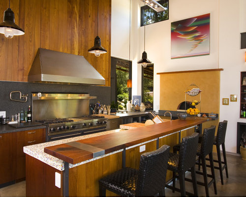 Houzz Raised Breakfast Bar Design Ideas Amp Remodel Pictures