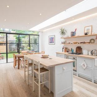 Design ideas for a farmhouse kitchen in London.