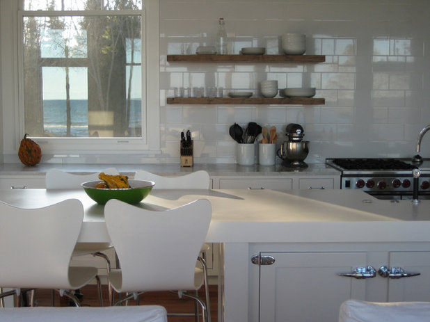 beach style kitchen by searl lamaster howe architects - New Kitchen Tables