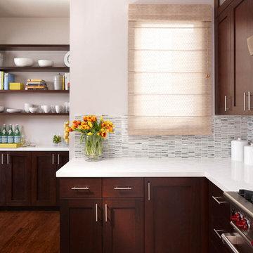 Kitchen shelving & cabinets