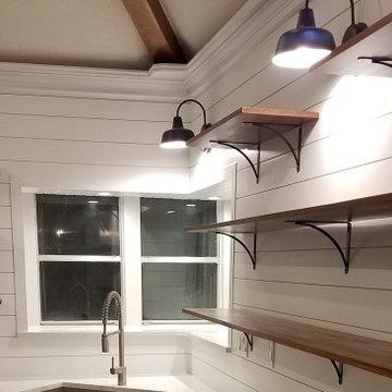 Kitchen Ship Lap with Open Pine Shelves