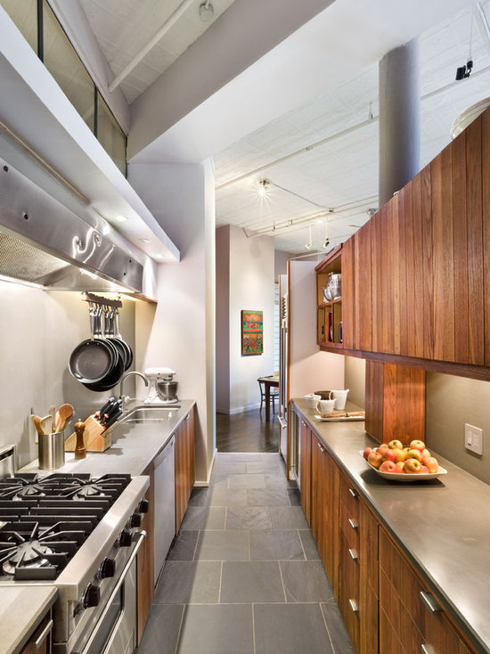 slate floor kitchen | houzz