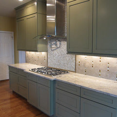 contemporary kitchen by Traditions in Tile and Stone