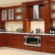 Traditional Kitchen by Stained Glass Inc