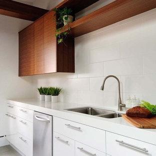 White Modern Kitchen Cabinets | Houzz