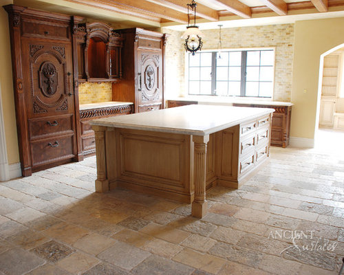 stone floors kitchen kitchen flooring houzz 2524