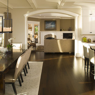 Inspiration For A Timeless Eat In Kitchen Remodel Minneapolis With White Cabinets
