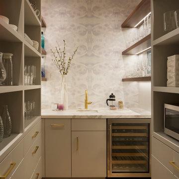 Kitchen Storage: Pantry and Wet Bar