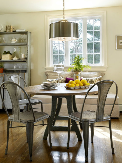 Example Of A Classic Eat In Kitchen Design In Providence