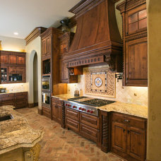 Mediterranean Kitchen by Terry M. Elston, Builder