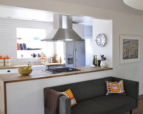 Half Wall Kitchen Design Ideas, Renovations U0026 Photos With Subway ... Part 36