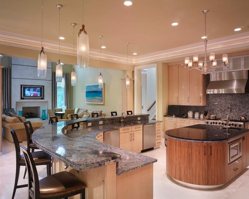 Curved Island Houzz