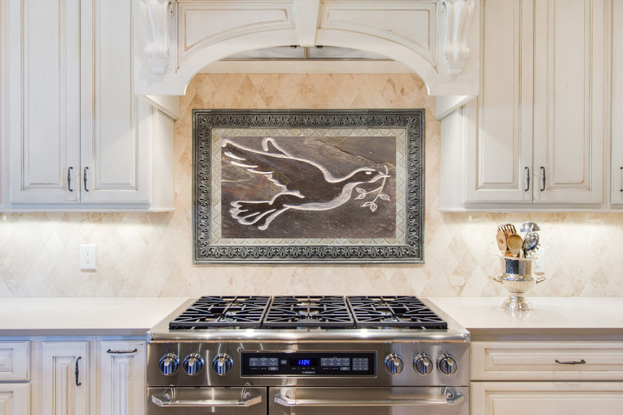 Kitchen Tile - The Dove- Custom stone tile for backsplash