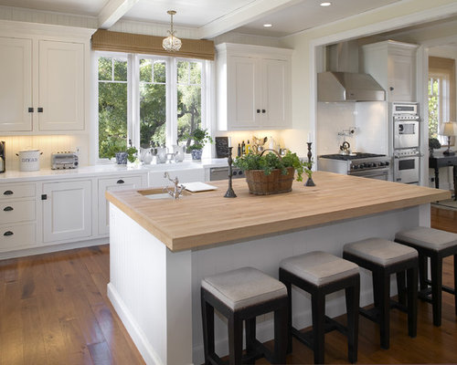 Best Butcher Block Kitchen Island Design Ideas & Remodel Pictures