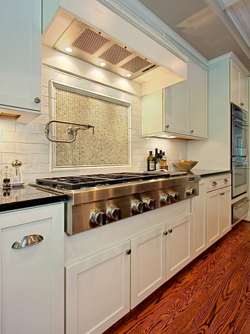 Traditional Kitchen Idea In DC Metro With Shaker Cabinets, White Cabinets  And White Backsplash